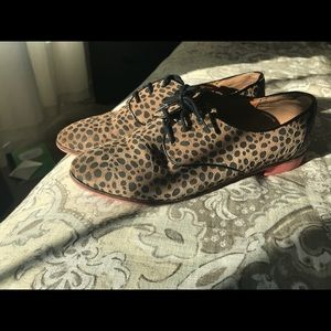 Cheetah print Oxfords
